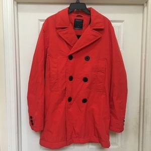 Nautica red pea coat medium new without tags